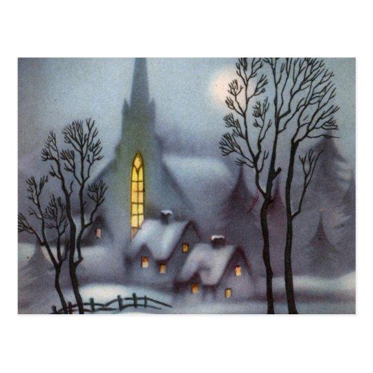 Silent Snowy Night Postcard