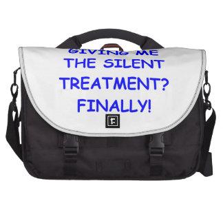 silent treatment commuter bag