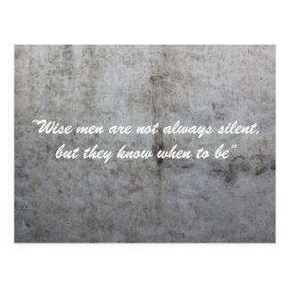 Silent Wall Postcard