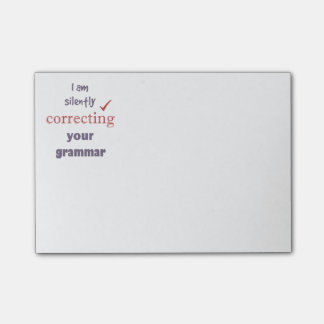 Silently Correcting your Grammar Funny Quote Post-it Notes