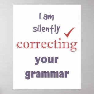 Funny Grammar Posters & Prints | Zazzle UK