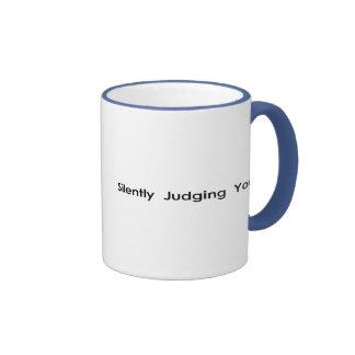 Silently Judging You Ringer Coffee Mug