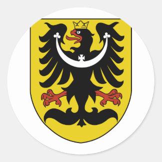 Silesia, Czech Classic Round Sticker