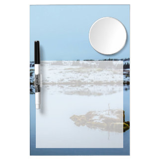 Silfra Landscape in Iceland Dry Erase Board With Mirror