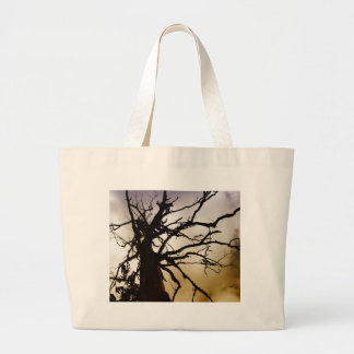 Silhouetee of tree without leaves bags