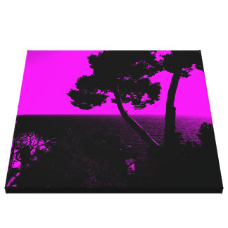 Silhouette 01 pink canvas prints