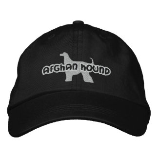 Silhouette Afghan Hound Embroidered Hat Embroidered Baseball Caps