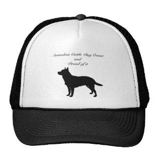Silhouette Australian Cattle Dog Hats