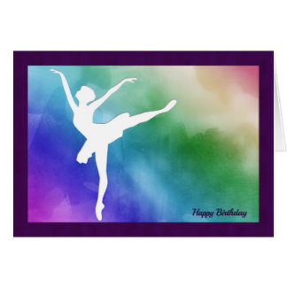 Silhouette Ballerina Cutout Birthday Card