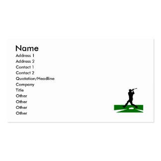 Silhouette Baseball Swing Pack Of Standard Business Cards