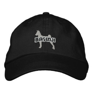 Silhouette Basenji Embroidered Hat