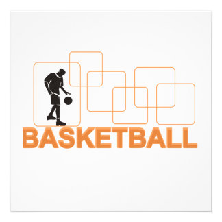 Silhouette Basketball T-shirts and Gifts Personalized Invitations