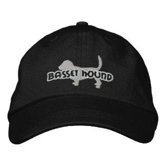 Silhouette Basset Hound Embroidered Hat