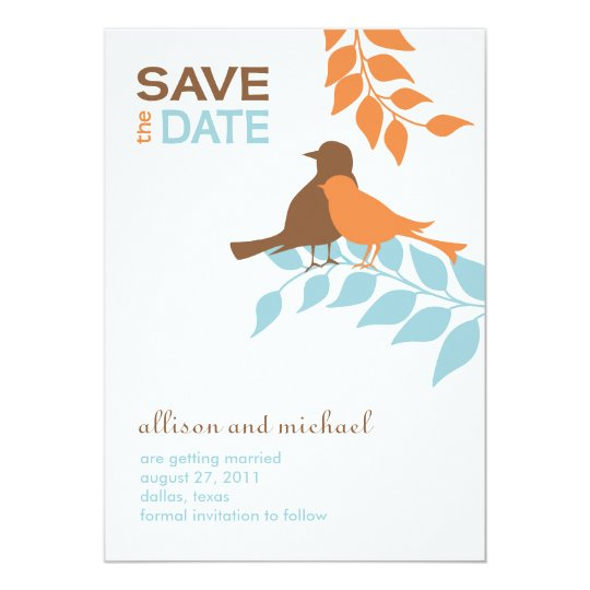 Silhouette Birds Save the Date Card