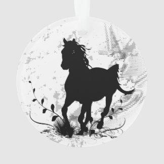 Silhouette, black horse