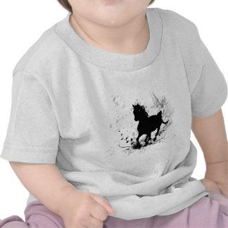 Silhouette, black horse tee shirts