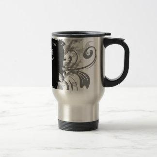 Silhouette, black lion head with flames coffee mugs