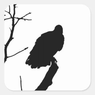 Silhouette Black White Vulture Bird of Prey Sticker