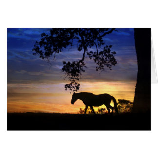 Silhouette Blank Horse Note Card
