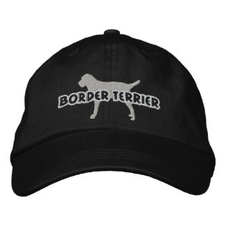 Silhouette Border Terrier Embroidered Hat