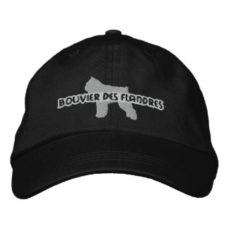 Silhouette Bouvier des Flandres Embroidered Hat