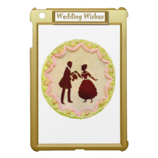 Silhouette bride and groom iPad mini case