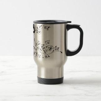 Silhouette Bride and Groom Wedding Couple Travel Mug