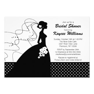Silhouette Bride Bridal Shower Invite