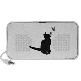 Silhouette Cat iPhone Speakers