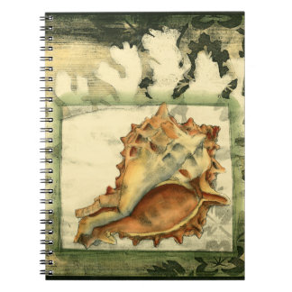 Silhouette Conch Shell Spiral Notebook