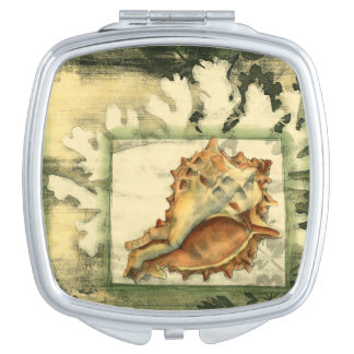 Silhouette Conch Shell Vanity Mirror