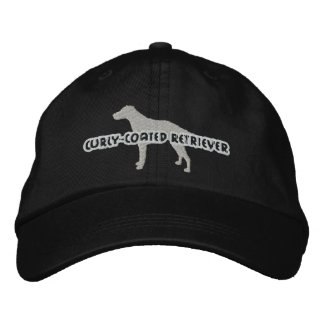Silhouette Curly Coated Retriever Embroidered Hat