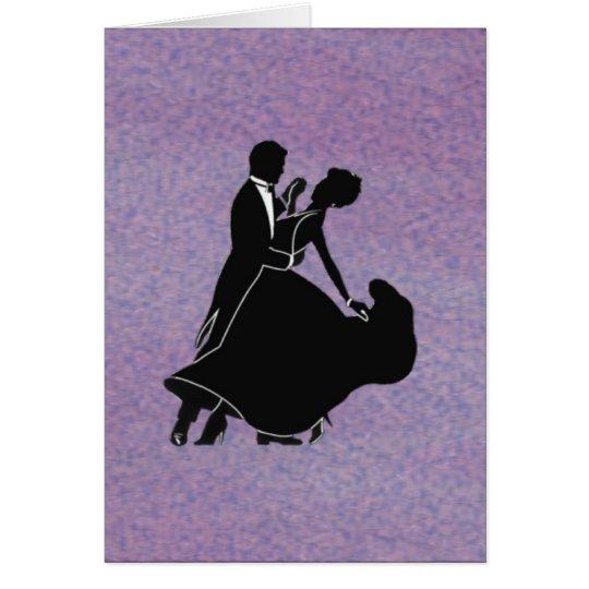 Silhouette Dancers Card