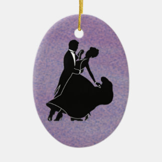Silhouette Dancers Christmas Ornament