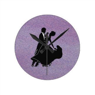 Silhouette Dancers Round Clock