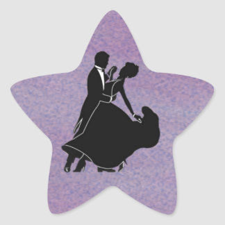 Silhouette Dancers Star Sticker