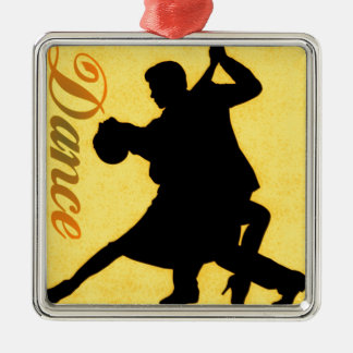 Silhouette Dancing Couple Christmas Ornament