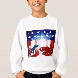 Silhouette Donkey Fighting Elephant Sweatshirt