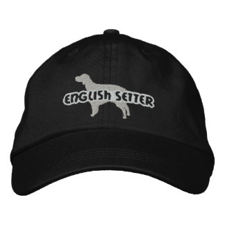 Silhouette English Setter Embroidered Hat