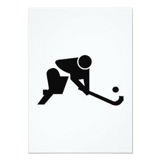 Silhouette Field Hockey Invitations