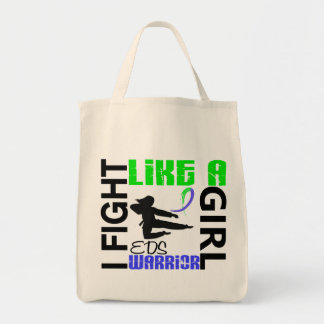 Silhouette Fight Like A Girl EDS 3.2 Grocery Tote Bag