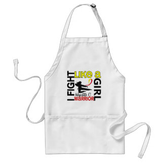 Silhouette Fight Like A Girl Hepatitis C 3.2 Adult Apron