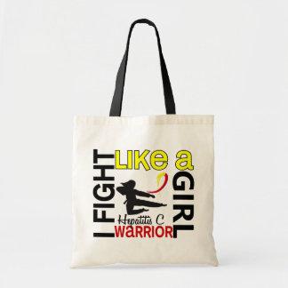 Silhouette Fight Like A Girl Hepatitis C 3.2 Bag