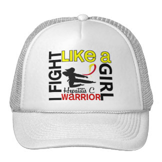 Silhouette Fight Like A Girl Hepatitis C 3.2 Hat