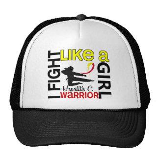 Silhouette Fight Like A Girl Hepatitis C 3.2 Trucker Hat