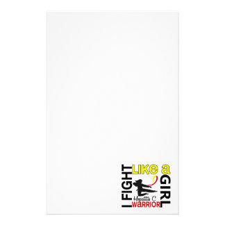 Silhouette Fight Like A Girl Hepatitis C 3.2 Stationery Design