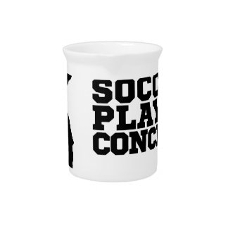 Silhouette Football Player Concept Drink Pitcher