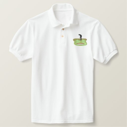 Silhouette Golfer Embroidered Polo Shirt