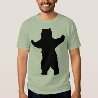silhouette grizzly bear shirt