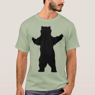 silhouette grizzly bear T-Shirt